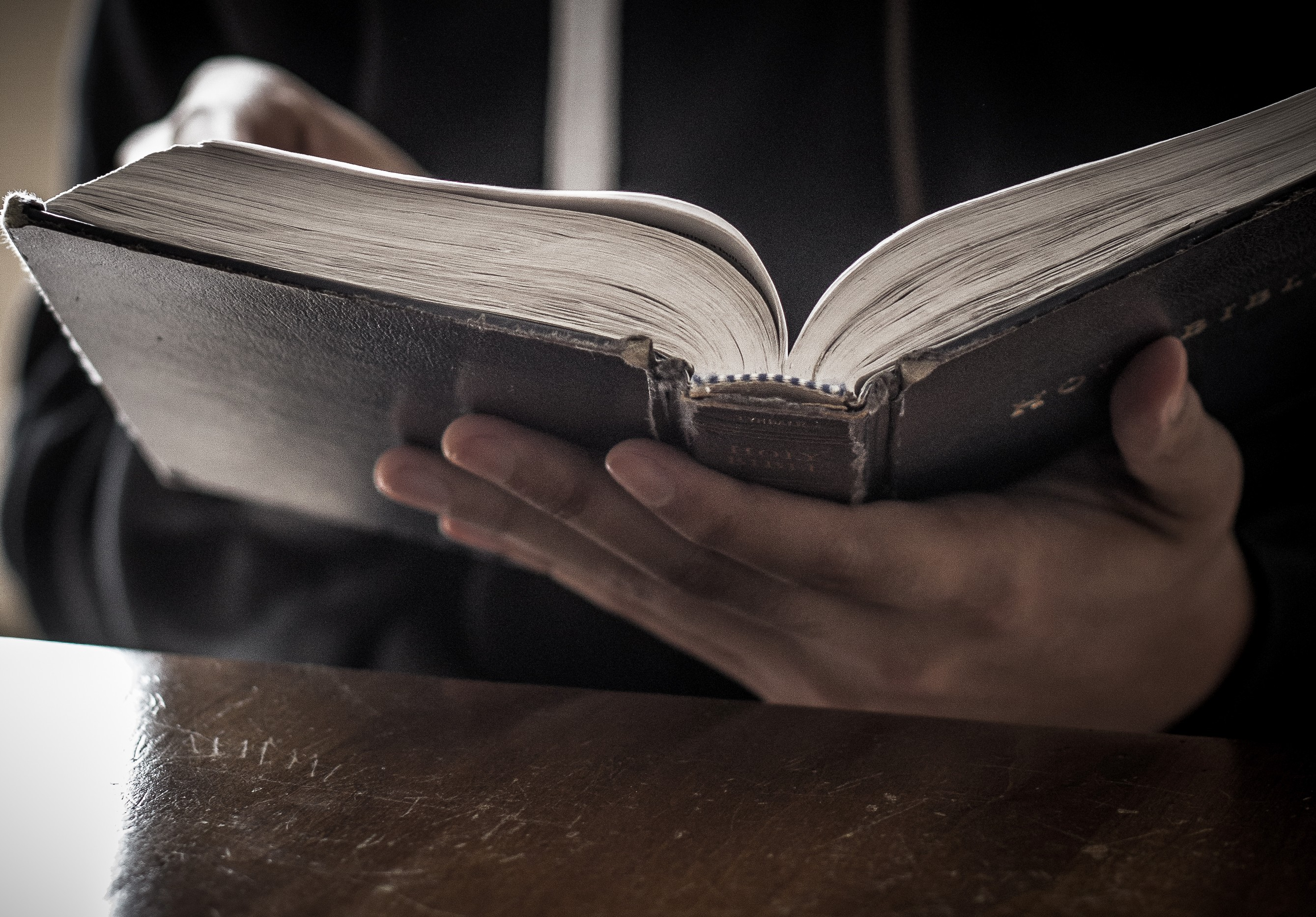 Bible Reading Christian Stock Image